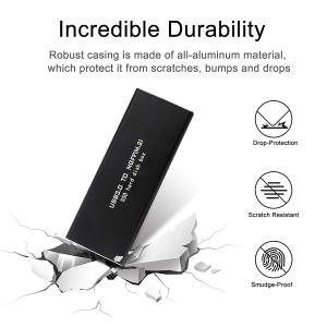 QNINE M.2 to USB Enclosure, M2 SSD Adapter with Case, Portable M.2 SSD Reader, M.2 SATA SSD Based B Key External Hard Drive Enclosure, Support 2230 2242 2260 2280